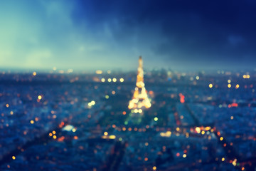 Fotomurales - bokeh in Paris, France,