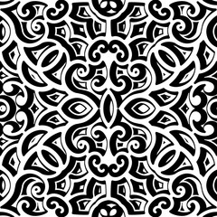 Black and white curly pattern