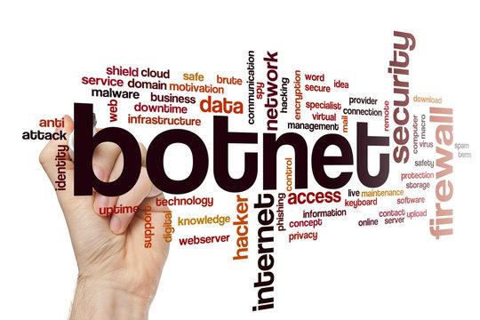 Botnet word cloud concept