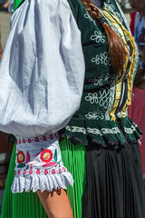 Detail of Czech folk costume for women