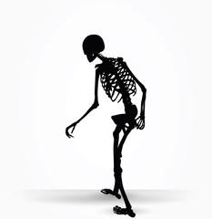 skeleton silhouette in old walk pose