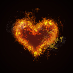 Hot fire heart burning