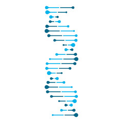 Abstract DNA strand symbol. Isolated on white background. Vector illustration.