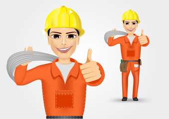 electrician giving thumbs up