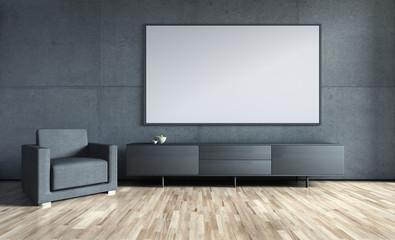 Wohnzimmerwand mit Freifläche
