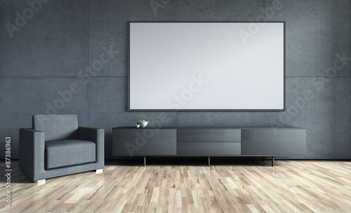wohnzimmerwand mit freifl che stockfotos und lizenzfreie bilder auf bild 87386963. Black Bedroom Furniture Sets. Home Design Ideas
