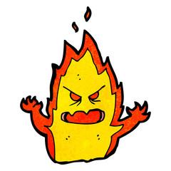 spooky flame monster cartoon