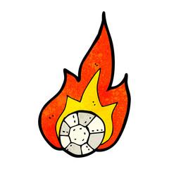 cartoon flaming football