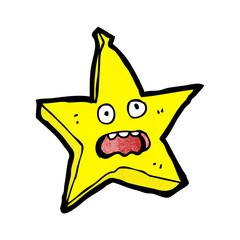 funny star cartoon character