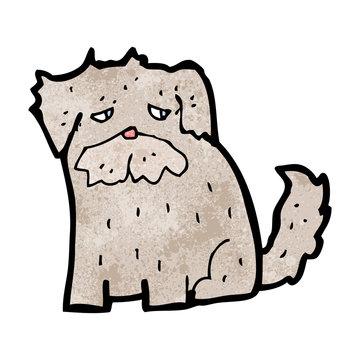 cartoon scruffy dog