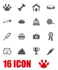 Vector grey pet icon set