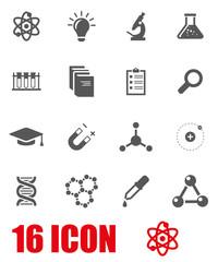 Vector grey science icon set
