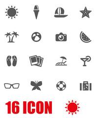 Vector grey sport icon set