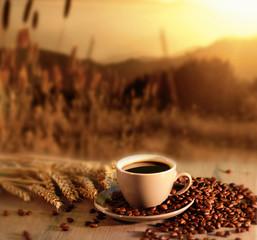 Kaffee, Kaffeetasse, Morgen