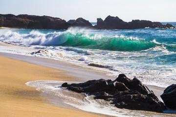 Huge Ocean Waves in Garrapata State Beach in California