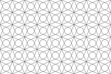 seamless geometric texture- black on white