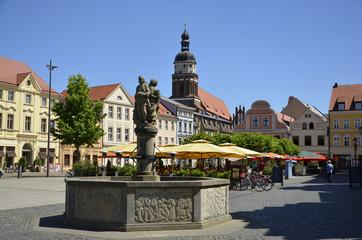 Marktbrunnen am Altmarkt und St.Nikolai, Cottbus