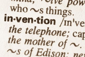 Dictionary definition of word invention