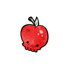 cartoon skull apple