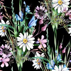 Field Flowers Seamless Pattern