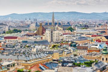 Keuken foto achterwand Wenen Aerial view of city center in Vienna