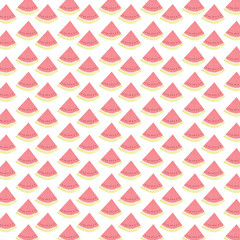 Watermelon illustration / Watermelon illustration pattern on a light background.