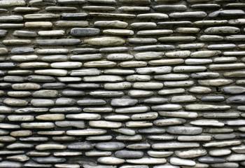 pebble stone wall