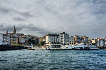 Golden Horn, Karakoy Galata Bridge Istanbul, Turkey
