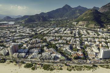 Rio de Janeiro, Barra da Tijuca beach aerial view
