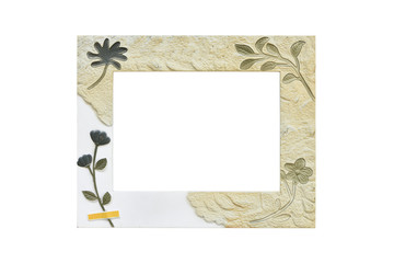 Flower print picture frame