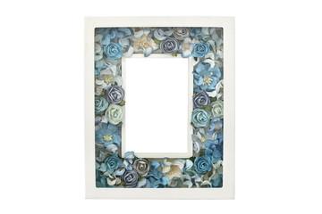 Blue rose picture frame