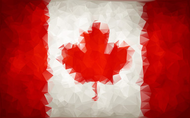 Abstract CANADA flag polygon