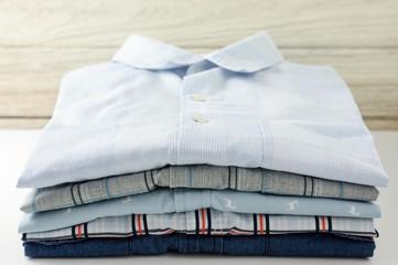 Stack of clothes closeup