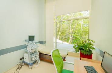 Ultrasound scanning equipment in the hospital