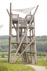 Observation tower for hunters