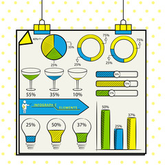 Business infographic template layout.