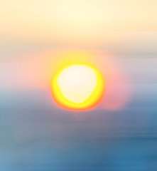 Blurred Sunset