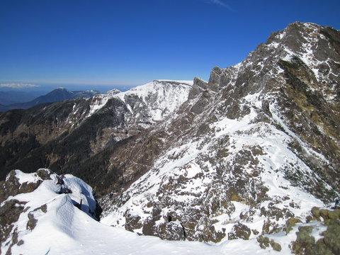 八ヶ岳 地蔵の頭付近より横岳、硫黄岳