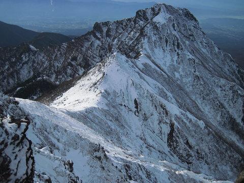 赤岳山頂より阿弥陀岳