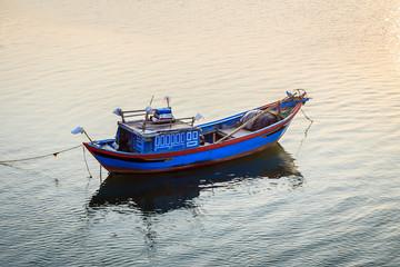 Boat on river in Vietnam