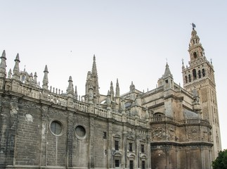 Cathedral and Giralda tower in Seville, Spain