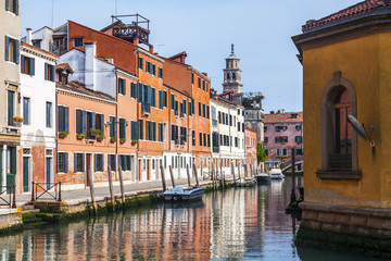 VENICE, ITALY. Venice is city on the water. City landscape.