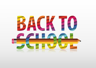 """Vector multicolored """"Back to School"""" text"""
