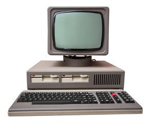 Old gray computer