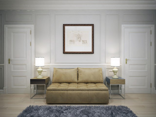 Idea of modern hallway
