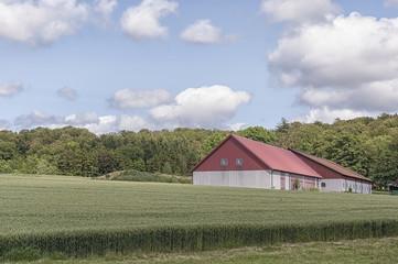 Farm Barn and Field