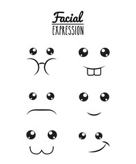 fun expression facial