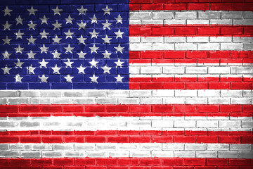 United States flagมwall texture background