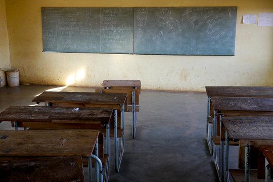 poor classroom in africa
