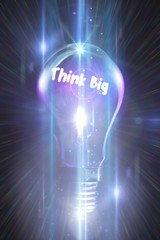 Composite image of think big